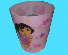 pp,pet,pvc垃圾桶,促銷塑料制品,趣味廣告垃圾筒