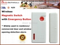 Wireless magnetic switch with emergency button