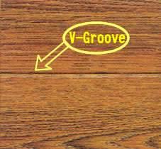 V groove at four side laminate flooring 1