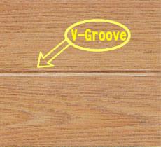 V groove at four side laminate flooring 2