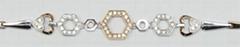 18K 白金钻石手链