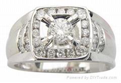 18kgold  brilliant antique diamond men ring  ADAA00001510