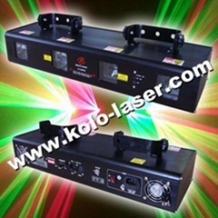 Double Green & Double Red laser light, disco light with DMX for DJ Pro