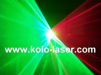 Green & Red double tunnels laser projector, laser show system 2