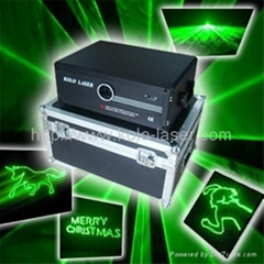 1W green animation laser light, stage