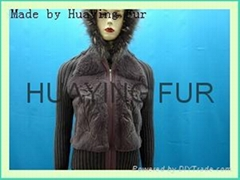 kitting-fur garment
