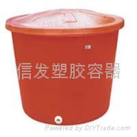 塑膠圓儲桶