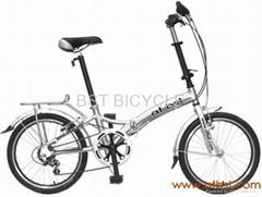 全铝合金折叠自行车