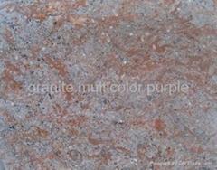 granite multicolor purple