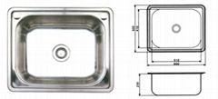 stainless steel sink(Drop-in Single Kitchen Sink)