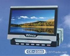 7寸全自动伸缩式车载液晶电视、车载电视、内藏式电视,伸缩式