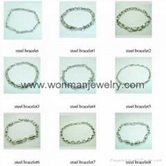 fashion jewelry 316L stainless steel jewelry bracelet on  wonmanjewelry