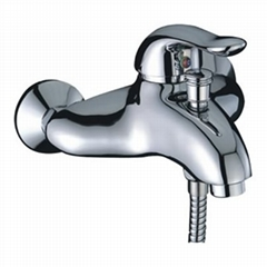 single handle bath-shower faucet