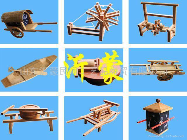 木制手工农具作品