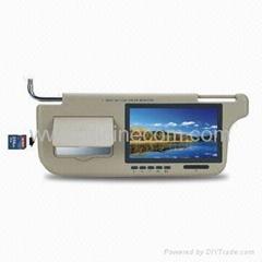 7' sun visor TFT LCD monitor with memory card car truck TV VCD DVD visual audio