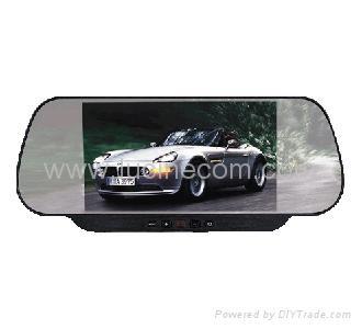 "6"" Rear View Mirror TFT LCD car truck TV VCD DVD monitor visual audio video equi 1"