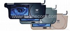 7 inch sun visor TFT LCD truck car monitor with DVD player car entertament safe