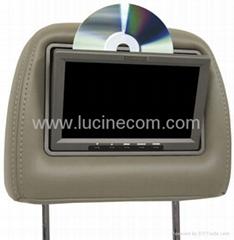"7"" Headrest TFT LCD Car Truck TV VCD DVD Monitor"