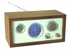 Wood Frame Clock Radio