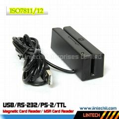 USB 90mm 3 tracks magnetic card reader