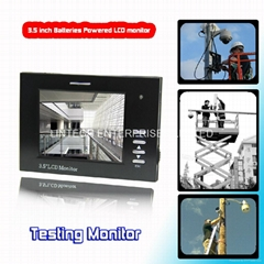 3.5 inches CCTV Tester Monitor with bateries powered