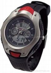 Digital-analogue sporty watch