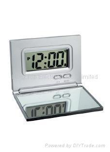 Folding LCD clock with mirrow 1
