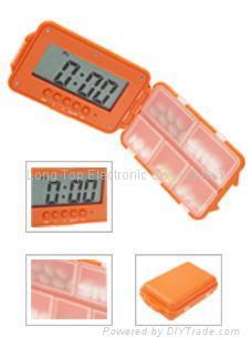 5-group daily alarm Pill box timer 1