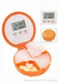 5 independent daily alarm pill box timer