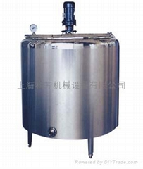 不鏽鋼三層側攪拌蒸汽加熱冷熱缸