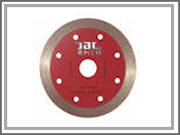 Diamond tools--Sinter,hot-pressed continuous rim blade