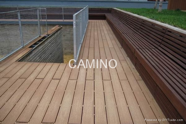 Wood plastic composite decking 100 recycled cs 003 for Recycled plastic decking