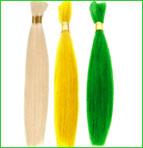 100%human hair products---Silky Straight Bulk