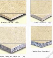Marble laminated Tiles ( composite panels)