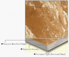 Marble + Ceramic Laminated Tiles / Composite Panels