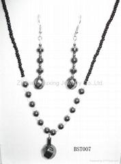 Black Bilestone Necklace