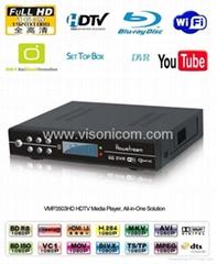 VMP3503HD 1080P HDTV Media Player supports DVB-T/DVR/Youtobe/FLV