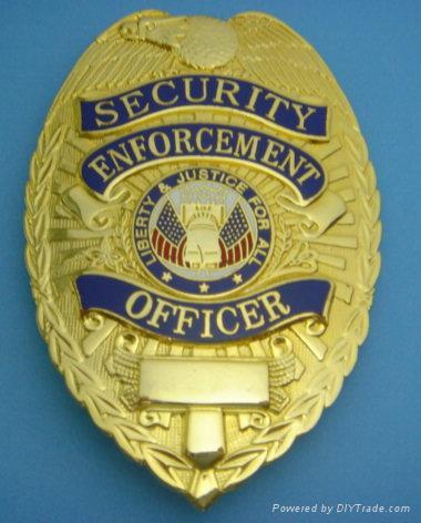police badge, security guard emblem, - HsianteH (Taiwan Manufacturer