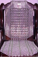 Deluxe crystal beaded seat cushion