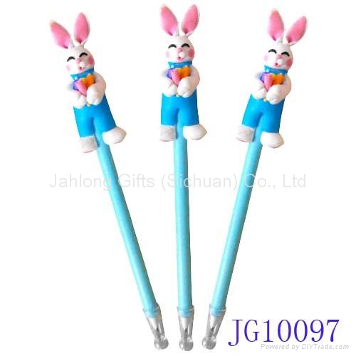 Lovely handicrafted polymer clay easter bunnie ball pen blue lovely handicrafted polymer clay easter bunnie ball pen blue promotional pen 1 negle Images