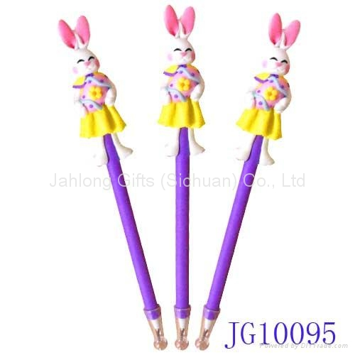 Lovely handicrafted polymer clay easter bunnie ball pen blue lovely handicrafted polymer clay easter bunnie ball pen blue promotional pen 4 negle Gallery