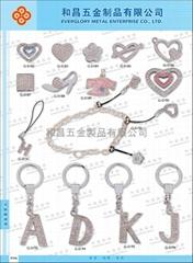 时尚小吊饰.合金钥匙扣 #G-0182-G-0196