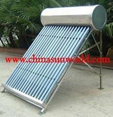Evacuated Tube Solar Water Heater System