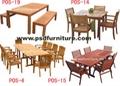 garden furnitur outdoor table wooden