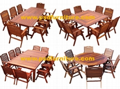 outdoor furniture garden table teak oak