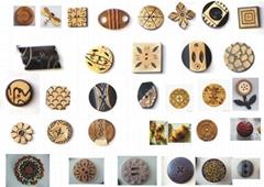 木钮扣,椰壳钮扣,果仁钮扣,真牛角扣,真皮钮扣