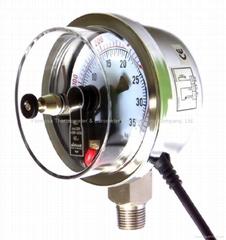 Electrical Contact Pressure Gauges, Pressure Gauge with Electrical Contact