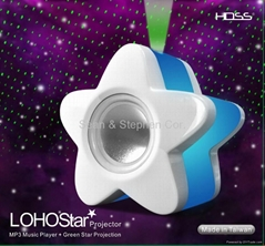 LS05 Mini Green Laser Stage Lighting + Speaker