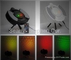 LS06迷你红+绿激光舞台灯带音箱/MP3/遥控器