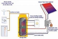 fission pressurized solar water heater